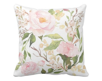 Floral Pillow Cover Springtime Clementine Rose