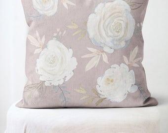 floral pillow cover spring decor flower decor throw pillow the vivienne rose