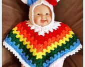 Hooded Baby – Toddler Unicorn Poncho Crochet Pattern PDF - INSTANT DOWNLOAD.