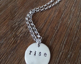 Rise Necklace Sterling Silver Customizable Resistance Line