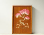 Mid Century Wall Art, Carved Asian Tree Artwork