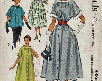 McCalls 9386 / Vintage 50s Sewing Pattern / Dress Jacket / Size 16 Bust 34