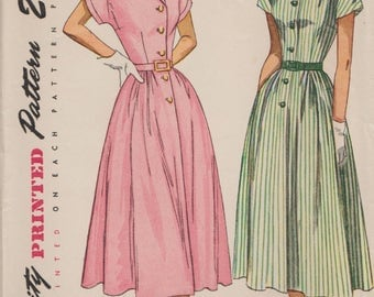 Simplicity 2499 / Vintage 40s Sewing Pattern / Dress / Size 16 Bust 34