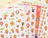 Alice in Wonderland cartoon stickers set