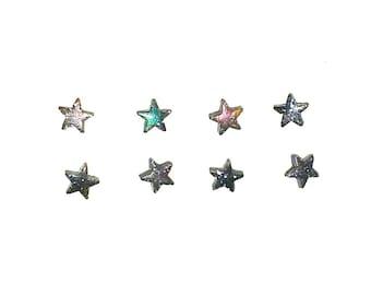 Tiny galaxy star shaped earrings. Small universe. Cosmic. Stars. Galaxy.