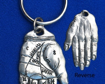 Palmistry Hand Key Ring