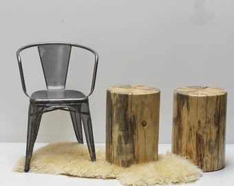 Stump Table Nude Tree Trunk Stool Seat