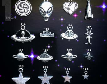 Suns, Moons, Aliens, Planets and Stars, Celestial Charms : Design Your Own