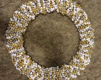 Mardi Gras Bead Wreath