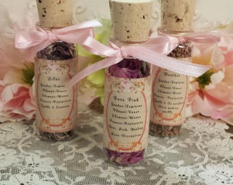 Flowers in 1.oz Corked Bottles, Herbs in corked Bottles