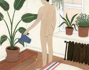 Watering the Plants (print)