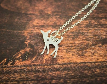 Deer Necklace, Doe Necklace, Deer Jewelry, Eco Friendly Necklace, Hunting Necklace, Doe, Deer, Country Jewelry, Deer Pendant, Deer Charm