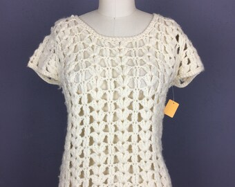 Open Knit Crochet Sweater