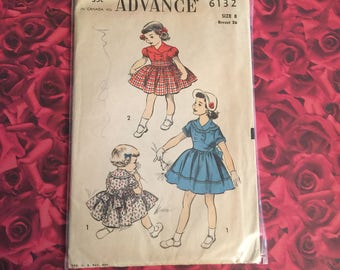 50's Vintage Sewing Pattern Girl's Dress