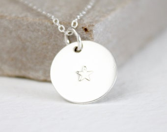 Star silver pendant necklace, bridesmaid gift, best friend, mother, daughter, bridal jewellery