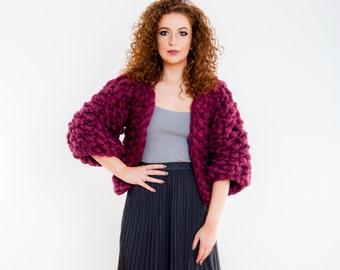 Luxury Chunky Knit Sweater Jacket