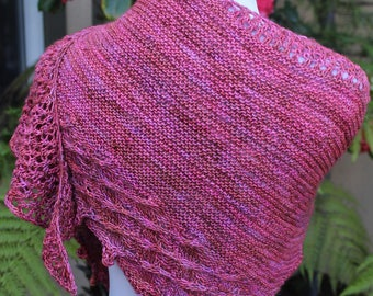 Rose Colored Little Bit Shawlette