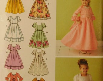 Simplicity 3545 Little Girls Flower, Princess Dress Size AA, 3 - 6  Factory Folded/Uncut