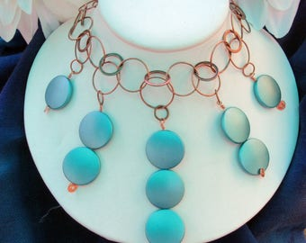 Turquoise blue statement necklace is fun to wear