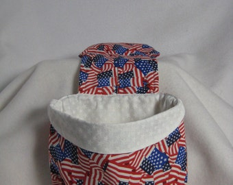 Stay Put Pouch Bedside Caddy USA Flag
