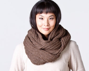 Oversized Infinity Scarf in Dark Chocolate