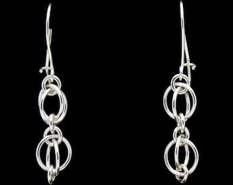 Double Orb Earrings in Sterling Silver
