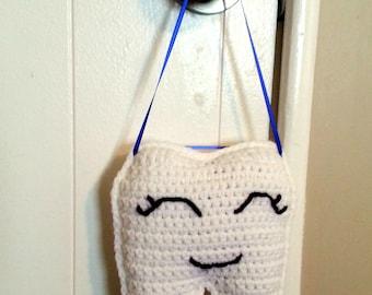 Tooth Fairy Pillow for Boys, Crochet Pillow, Pocket Pillow, Toothfairy Pillow, Kids Room Decor, Nursery Decor