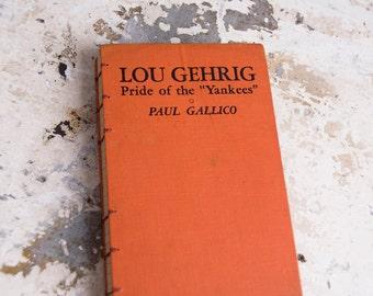 1942 LOU GEHRIG Vintage Lined Notebook