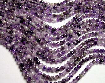 Amethyst - 6mm round - Cape amethyst - 1 full strand - 66 beads - RFG1200