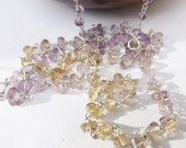 Ametrine necklace, citrine necklace, amethyst necklace, sterling silver, something special, gemmy necklace, glam jewellery, modern