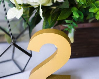 Wedding Table Numbers for Reception Table Decorations, Weddings Party, Optional Painting or Glitter Centerpiece Table Marker (Item - THN100)