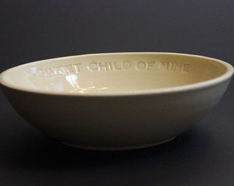 """Ceramic Baby Dish Heirloom Keepsake """"Sweet Child of Mine"""" for Baby Shower New Parents Mom and Dad"""
