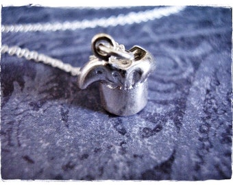 Silver Chef Hat Necklace - Sterling Silver Chef Hat Charm on a Delicate Sterling Silver Cable Chain or Charm Only
