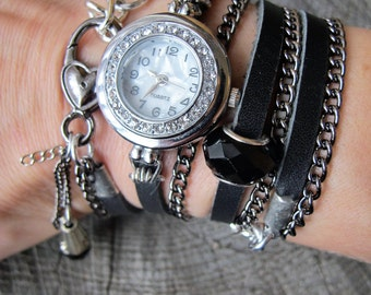 Leather Wrap Watch, Leather Watch, Watch Leather, Watch Women, Watches for Women, Women Bracelet Watches, Women Watches, Wrap Around Watch