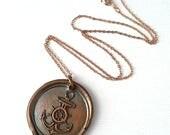 Unisex Large Anchor Nautical Sailor Pendant Necklace