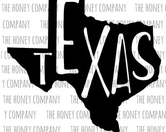 Texas SVG PNG DXF State Outline Instant Download Silhouette Cricut Cut Files Cutting Machine