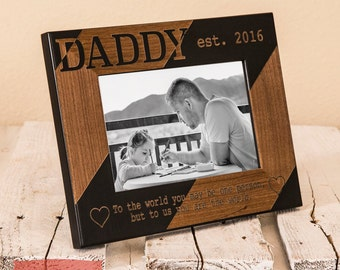 personalized dad picture frame fathers day gift thoughtful daddy gift fathers day gift first fathers day