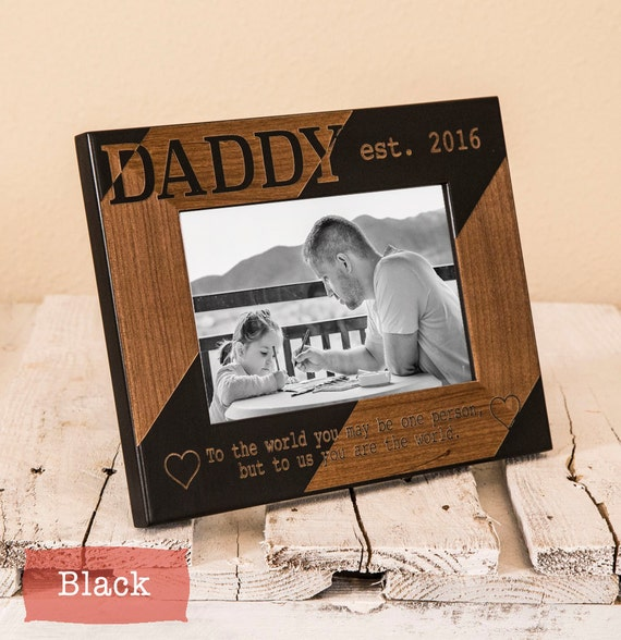 Personalized dad picture frame fathers day gift for Thoughtful gifts for dad from daughter
