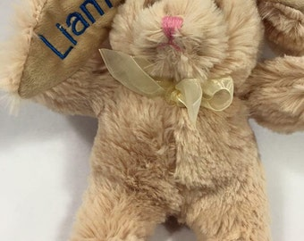 TAN  Embroidered and Personalized Plush Easter Bunny