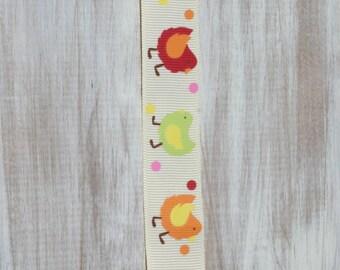 Baby girl cute chickens ribbon suspender binky clip