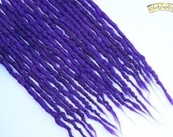 Purples DE x10 Crochet Synthetic Dreads - accent
