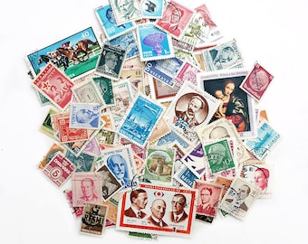 150 Vintage International Postage Stamps