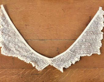 Four-Point Antique Lace Collar