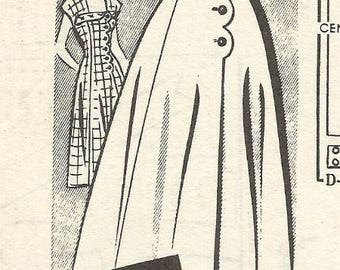 1950s Sundress Front Buttoning Scalloped Front Sew Rite 8733 Uncut FF Size 20 Bust 38 Women's Vintage Sewing Pattern