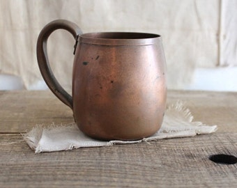 Vintage West Bend Solid Copper Cup Mug