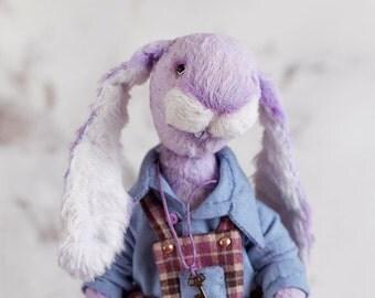 Rabbit Aristarchus 7 inch.  Teddy Rabbit. Teddy bear. Artist bears. Stuffed animal. OOAK