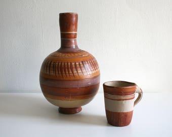 Mexican Drinking Jug and Mug