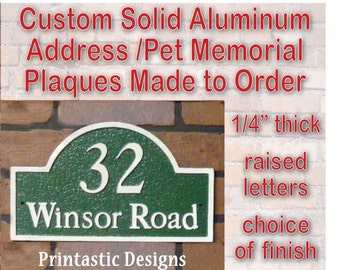 Address Marker/Pet Memorial/Garden Plaque - Custom Cast Aluminum