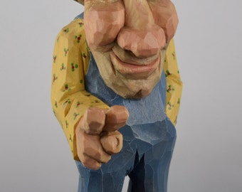 wood carving aging hippie baby boomer