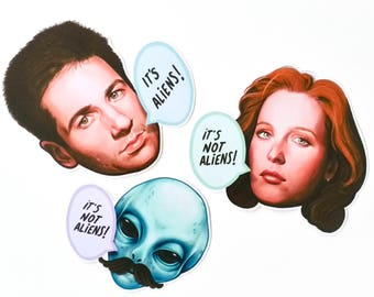 I kinda want to believe - Mulder & Scully 3 sticker set